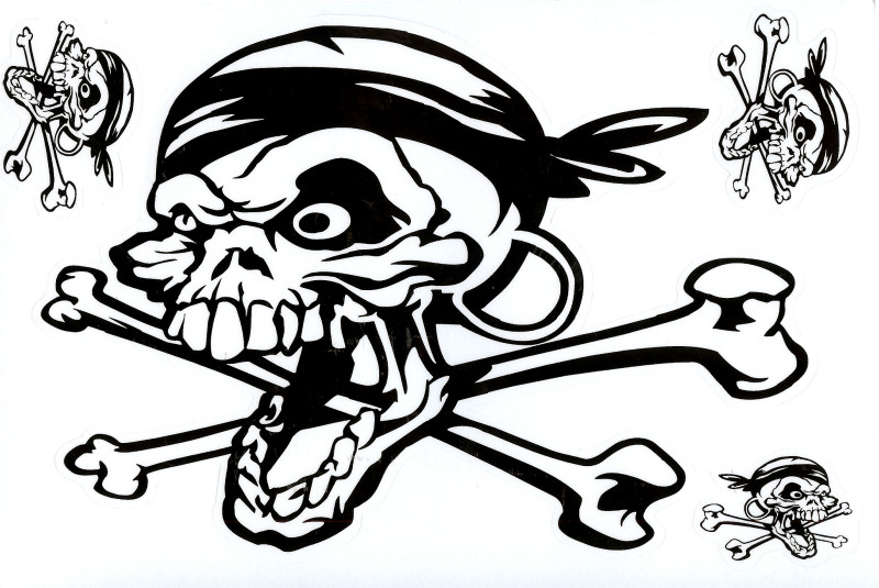 800x535 Stickers Gtgt Miscellaneus Gtgt Screaming Skull 26cm Stickers