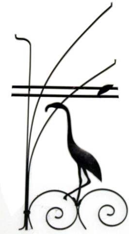 266x480 American Art Deco Screen Door Stretcher With Tall Flamingo Modernism