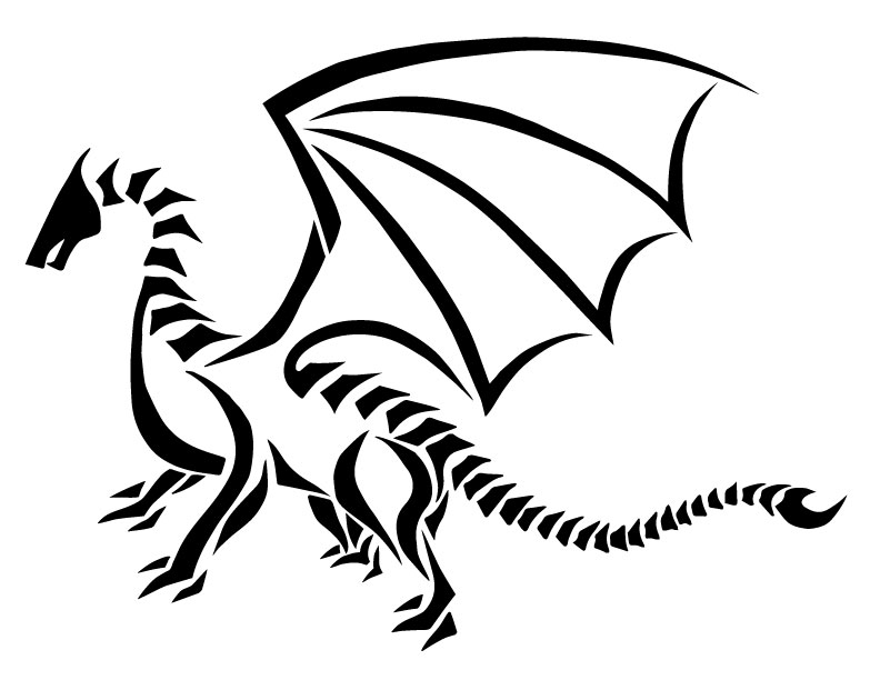 792x612 Dragon Screen Print Design Skylark Landing