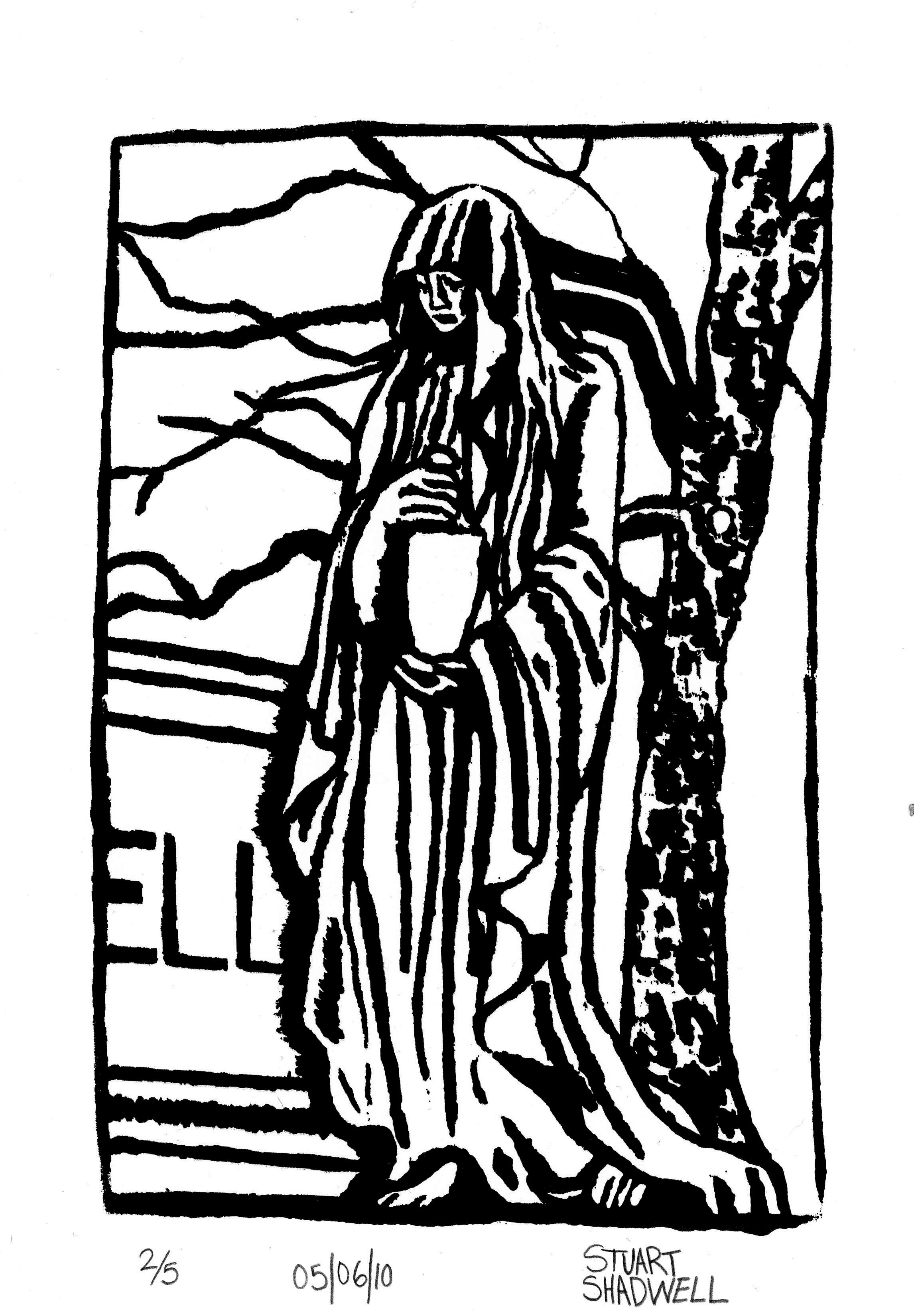 2292x3299 Lament Silk Screen Print By Stuart Shadwell Stuartshadwell@gmail
