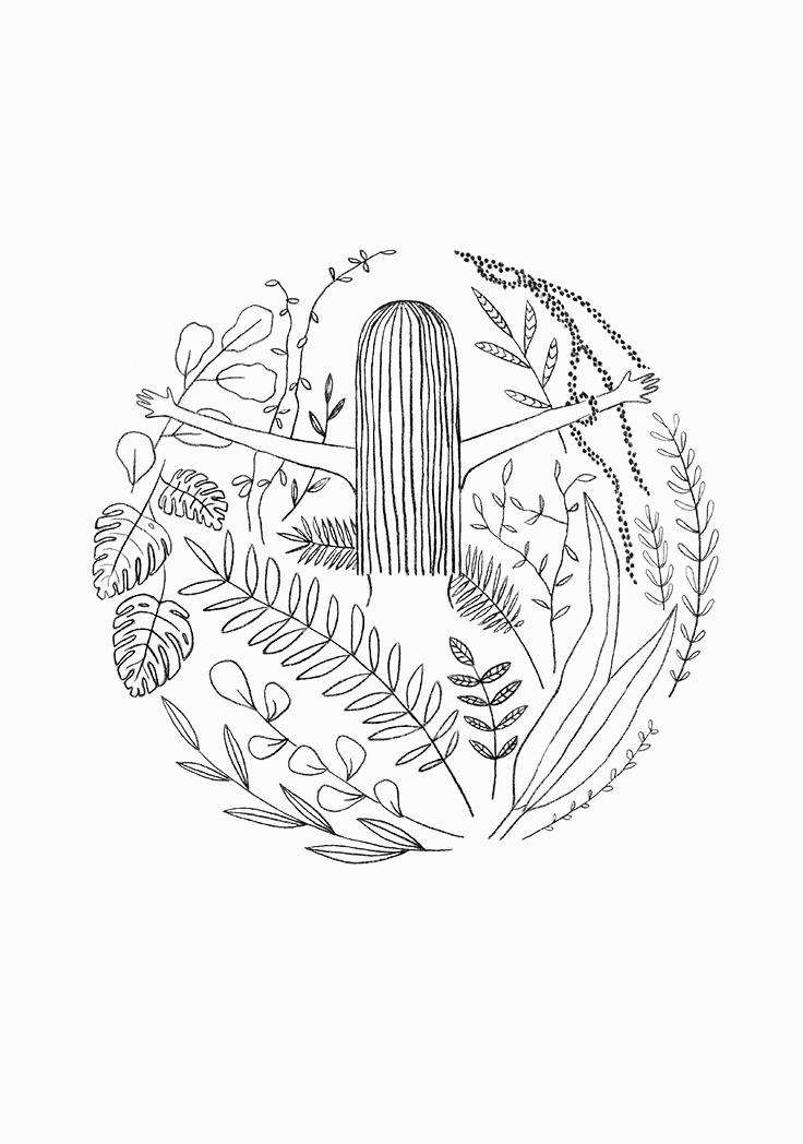 736x1048 Botanical Print Or Nature Print Screen Print Perfect