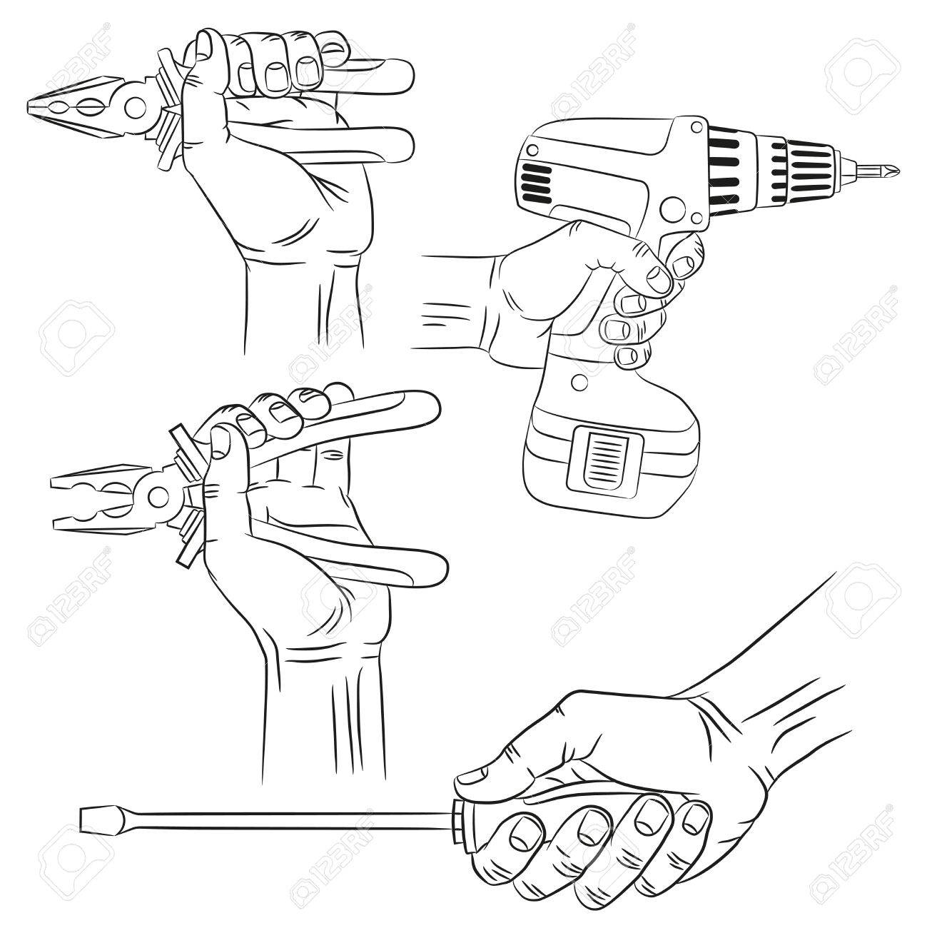 1299x1300 Hands With Tools