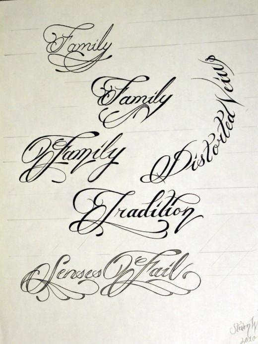 520x693 Tattoo Script Writing Styles Elaxsir