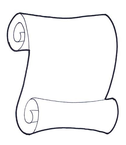 Scroll Drawing Template