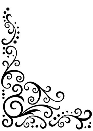 320x450 Darice Scroll Flourish Embossing Template, Transparent, 12.7 X