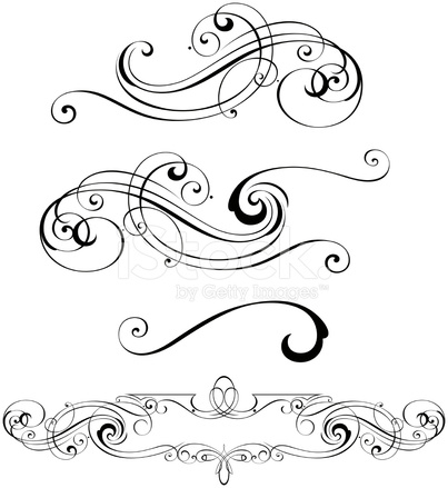 403x439 Scroll Designs Stock Vector