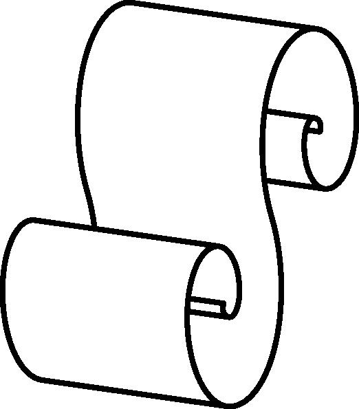 522x595 Scroll Outline Clip Art