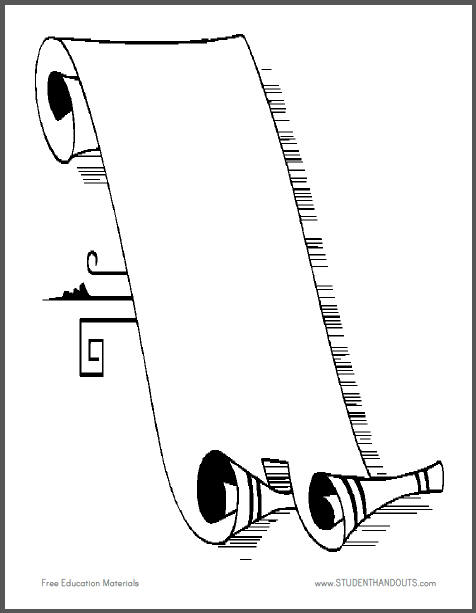 Scroll Drawing Template at GetDrawings.com | Free for personal use ...