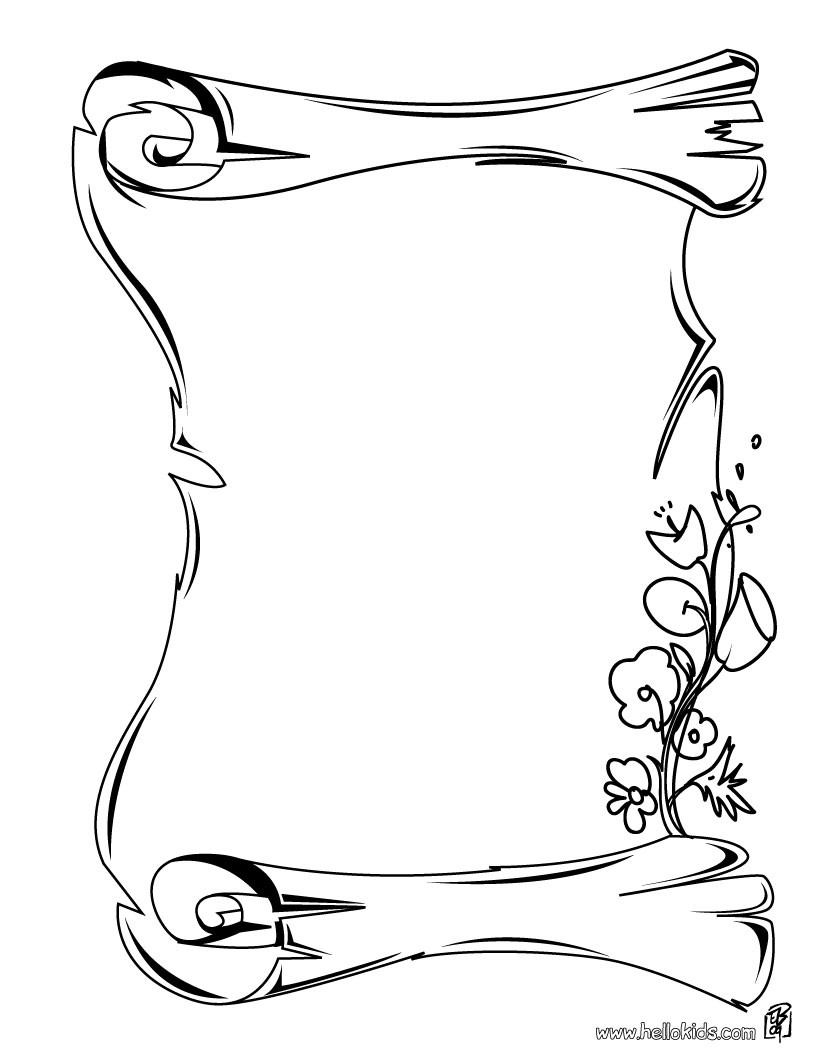 820x1060 Scroll Coloring Page Erf Coloring