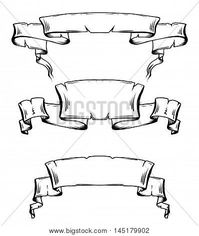 398x470 Set Vintage Ancient Scrolls Vector Amp Photo Bigstock
