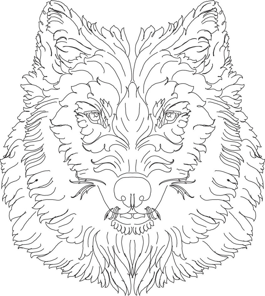 846x943 Scroll Work Wolf Hand Engraving Lines By Shaun750