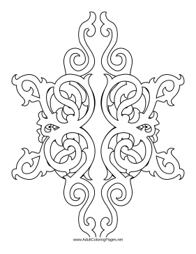 281x363 This Adult Coloring Page Features Delicate Vertical Scrollwork