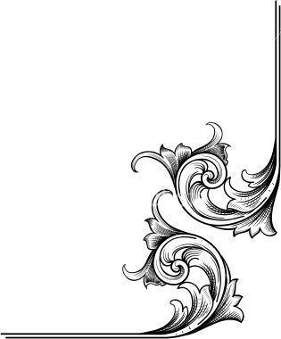315x380 A True Hand Engraving Scrollwork Designed For Page Corners. Can