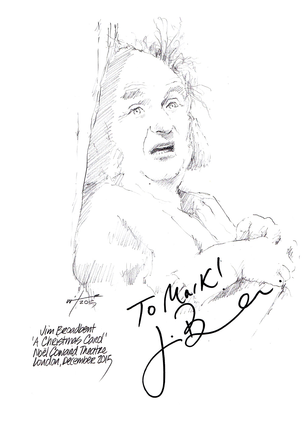 1000x1415 Drawing Jim Broadbent As Scrooge Chicanepictures