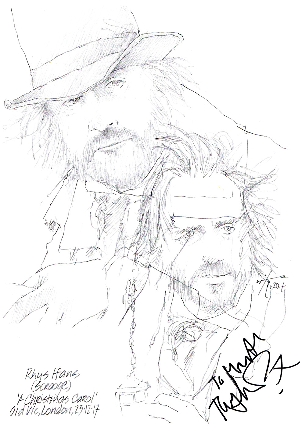 1000x1415 Drawing Rhys Ifans As Scrooge In A Christmas Carol Chicanepictures