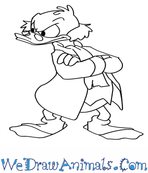 300x350 How To Draw Scrooge Mcduck