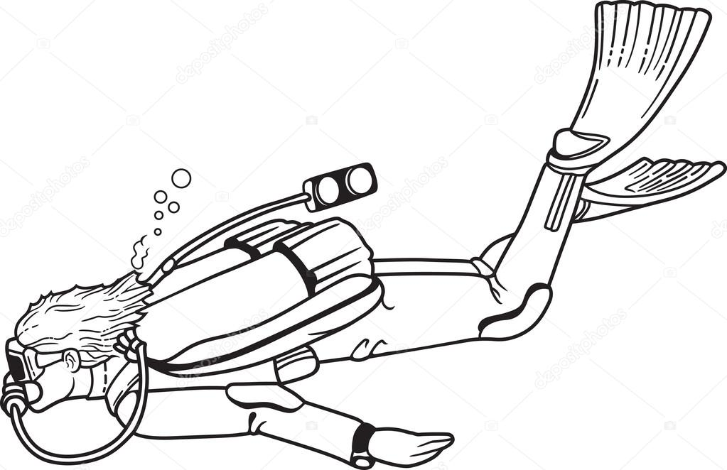 scuba diver drawing at getdrawings com free for personal use scuba