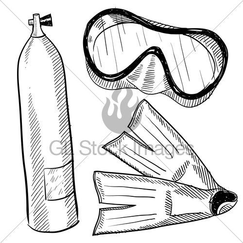 scuba diving drawing at getdrawings com free for personal use