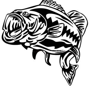 300x300 42 Best Bass Tattoo Outlines Images On Largemouth Bass
