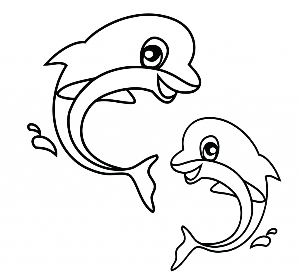 1024x937 Easy To Draw Sea Creatures Easy Sea Animals To Draw Cute Sea
