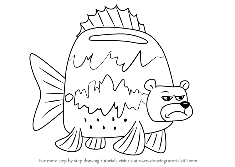 800x567 Learn How To Draw Sea Bear From Spongebob Squarepants (Spongebob