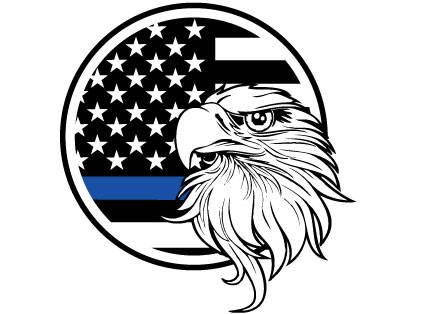 430x314 American Eagle Thin Blue Line Sticker