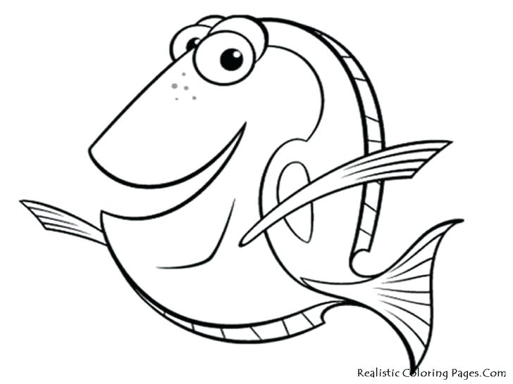728x546 Ocean Fish Coloring Pages Printable Cartoon Fish Coloring Page