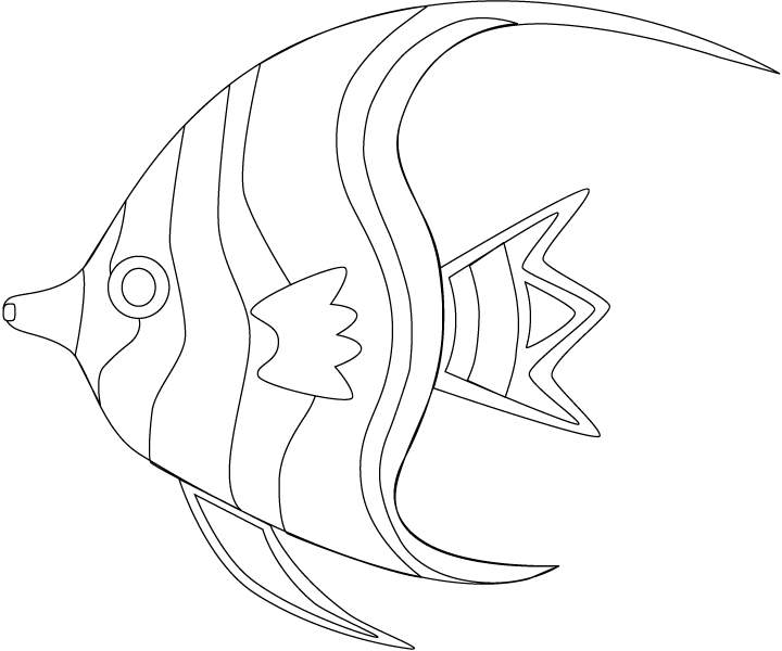 720x600 Sea Fish Coloring Pages