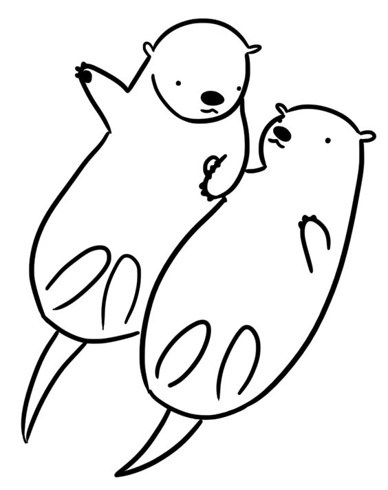 564x712 Otter Coloring Page Artsy Fartsy Lets Get Creative Pinterest