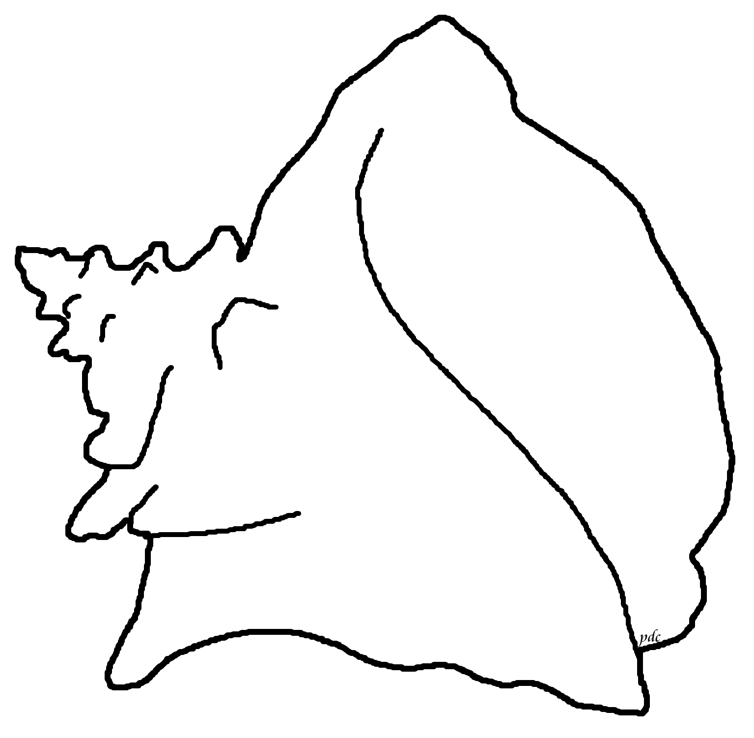 1535x1502 Shell clipart coloring page