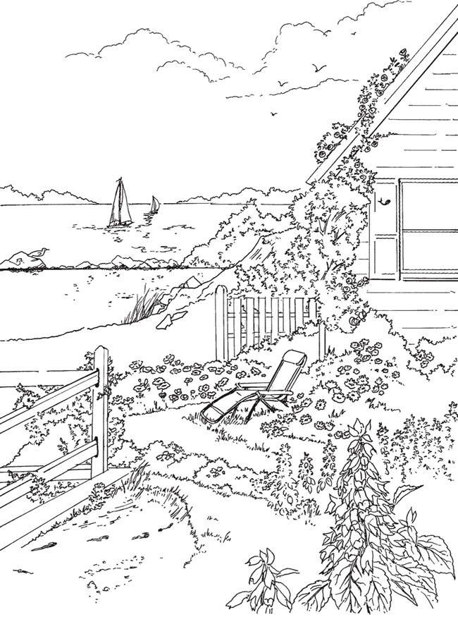 Sea Shore Drawing