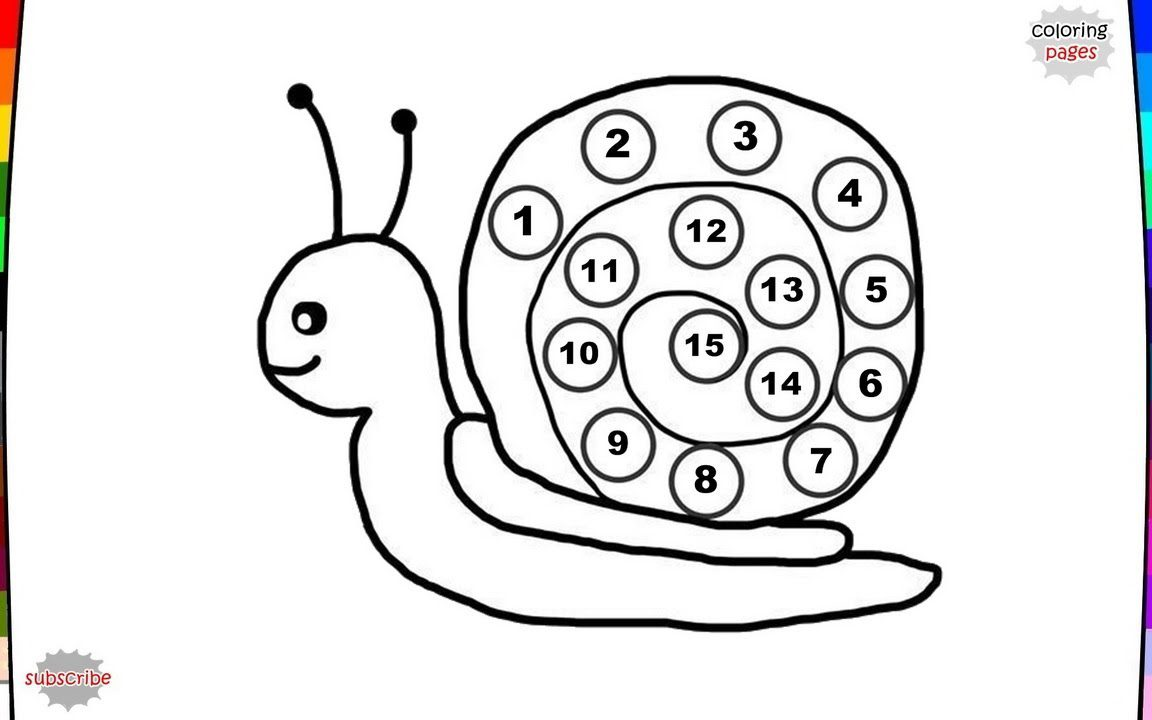 1152x720 Snail Coloring Pages General Preschool Printable For Kids High