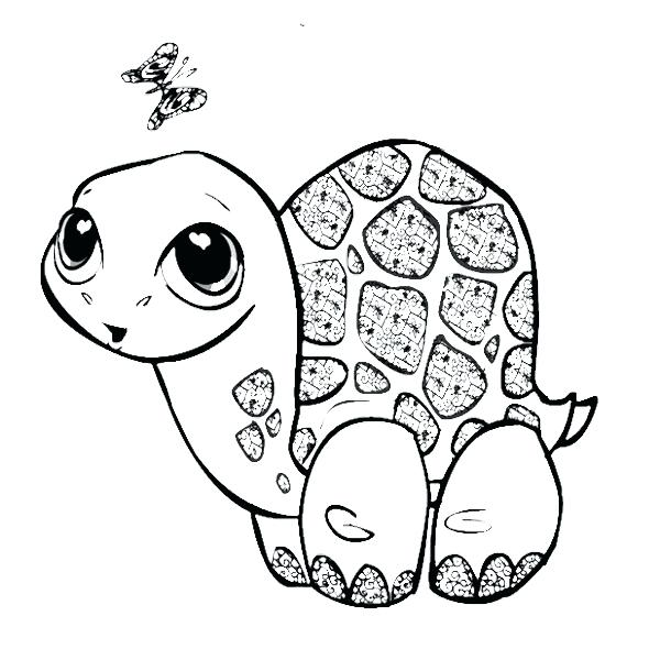 Sea turtle cartoon drawing at free for for Cute turtle coloring pages