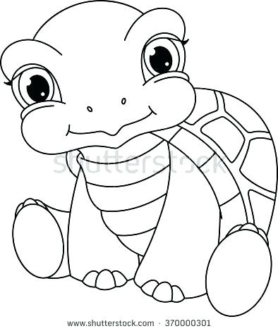 394x470 Turtle Coloring Pages Green Sea Turtle Coloring Page Sea Turtle