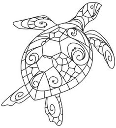 236x260 How To Draw A Sea Turtle, Step By Step, Sea Animals, Animals, Free