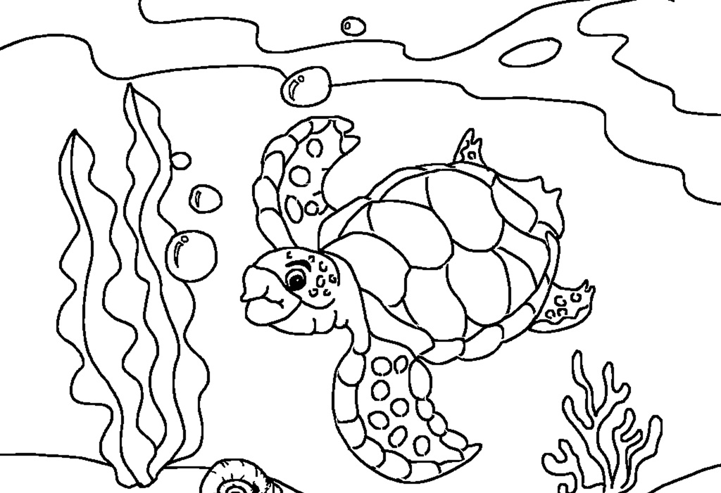 1024x701 Free Printable Sea Turtle Coloring Pages Colouring For Humorous