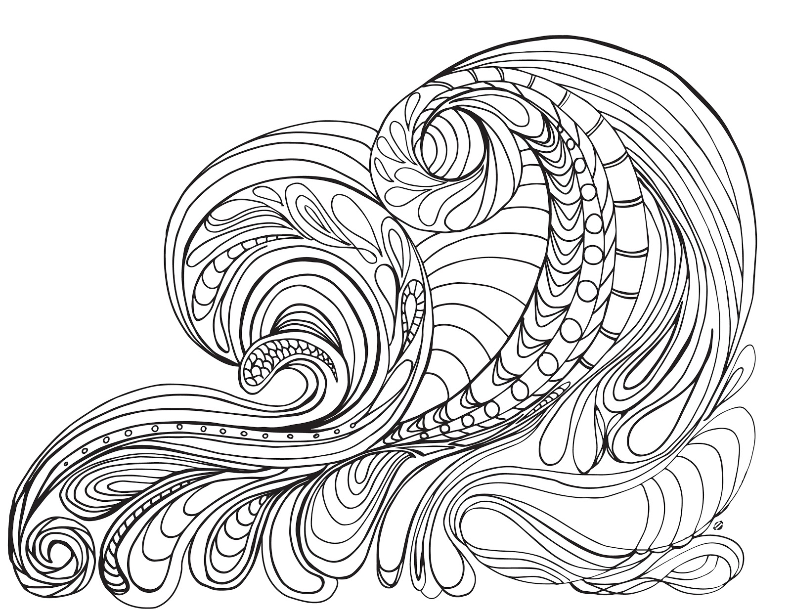 1600x1236 Ocean Colorings For Adults On Waves The Coloring Pages Printable