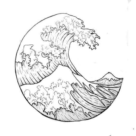 564x564 The Great Wave Circle Tattoos, Tattoo And Google