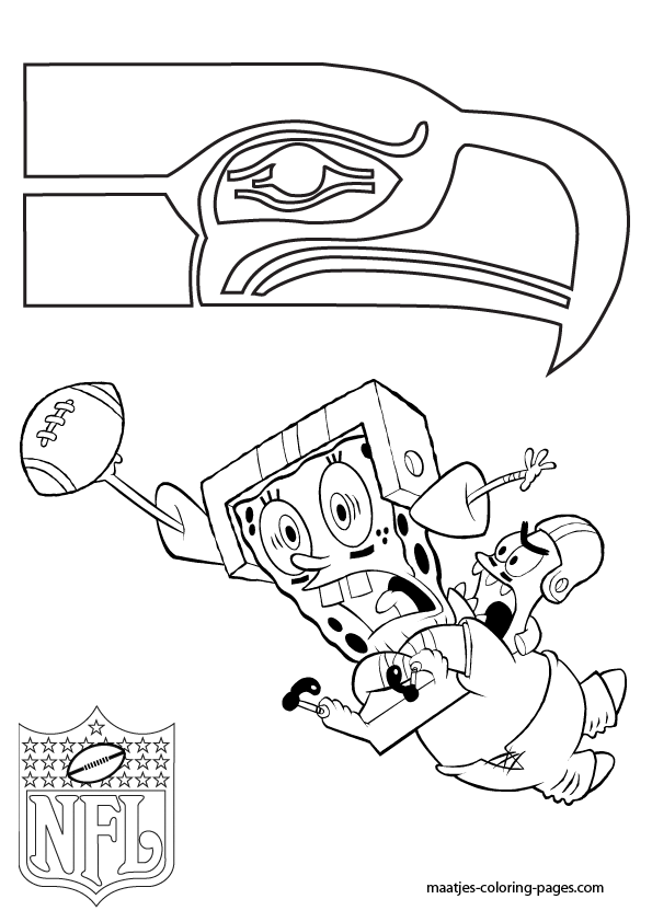 595x842 Nfl Seattle Seahawks Coloring Pages Seattle Seahawks Patrick
