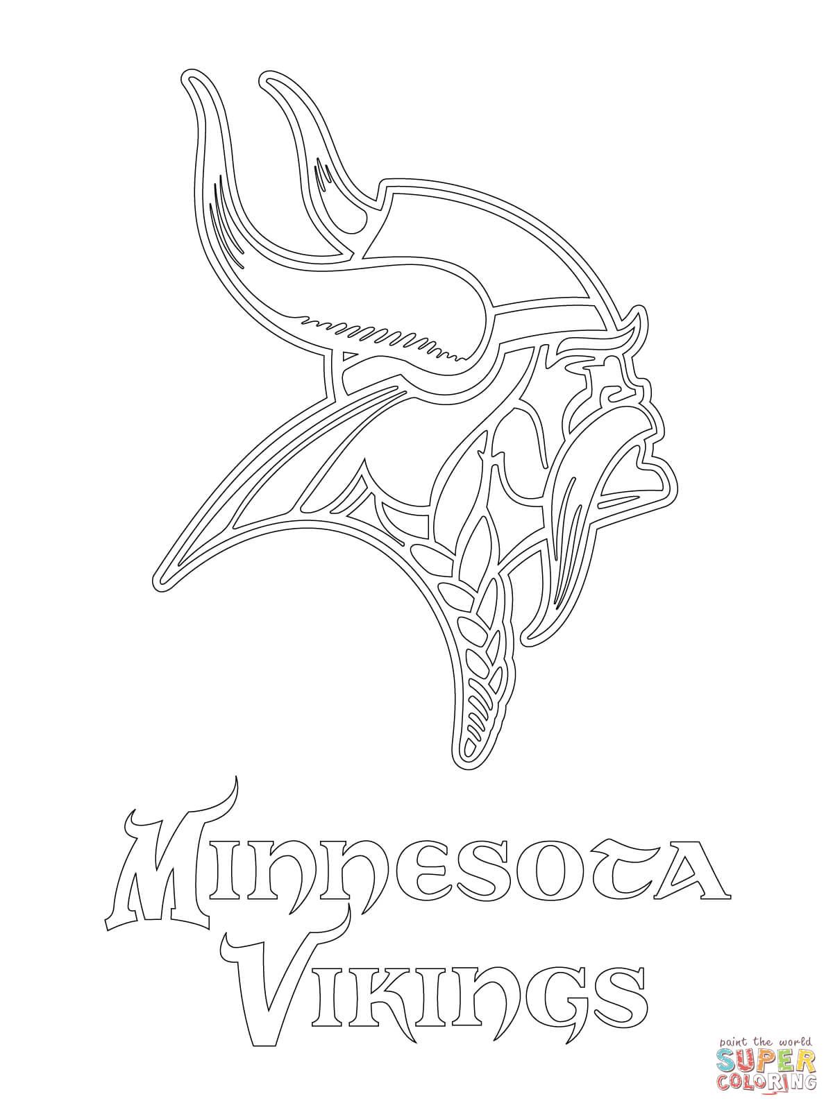 1200x1600 minnesota vikings logo coloring page free printable coloring