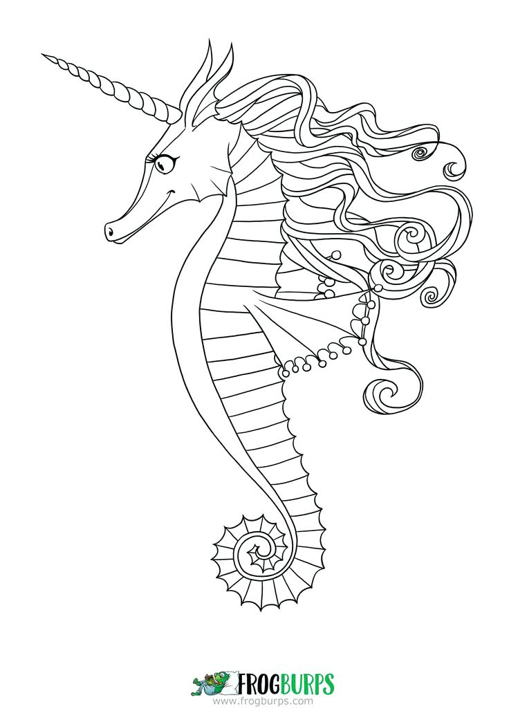 Seahorse Drawing Outline at GetDrawings