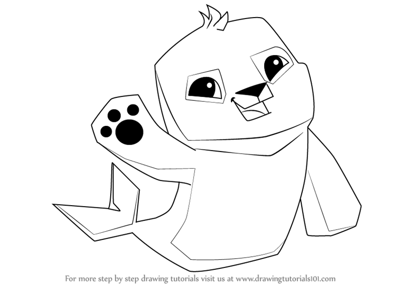 800x568 Learn How To Draw Seal From Animal Jam (Animal Jam) Step By Step