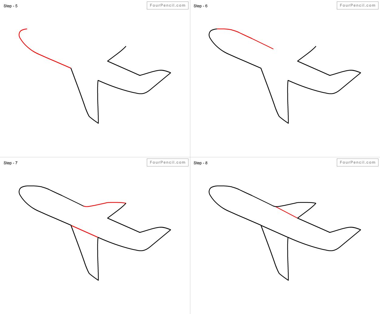 1250x1032 Fpencil How To Draw Aeroplane For Kids Step By Step