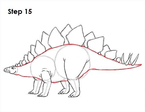 500x386 How To Draw A Stegosaurus