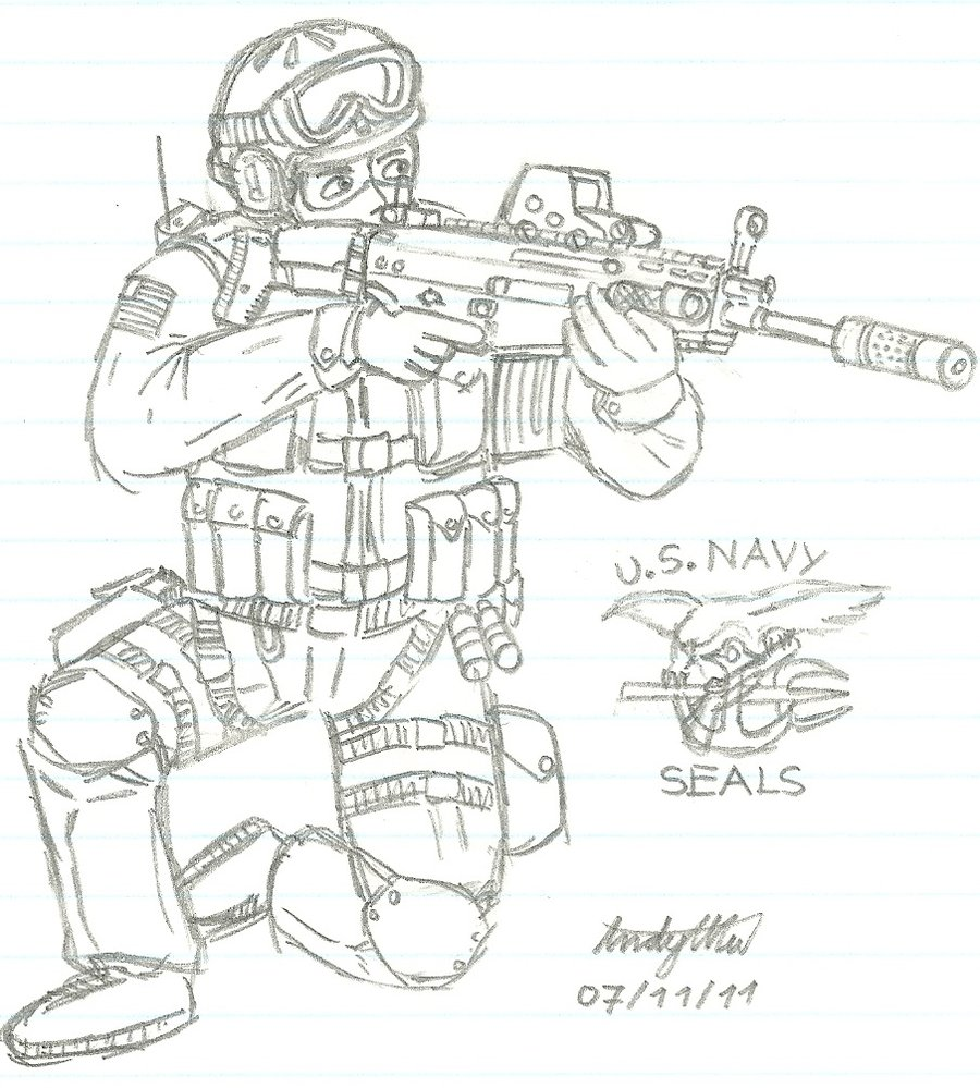 900x999 Us Navy Seal Team 6 By Ndtwofives