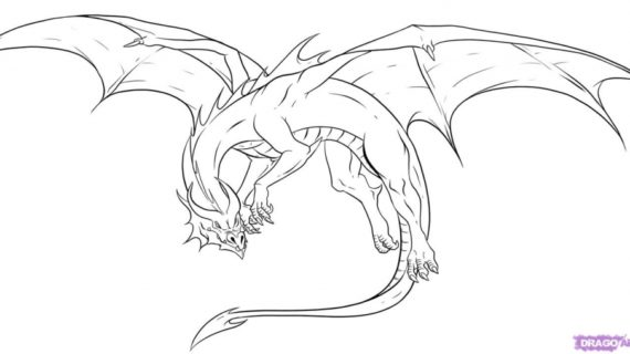 570x320 Drawings Of A Dragon Drawing Mythical Creatures Google Search