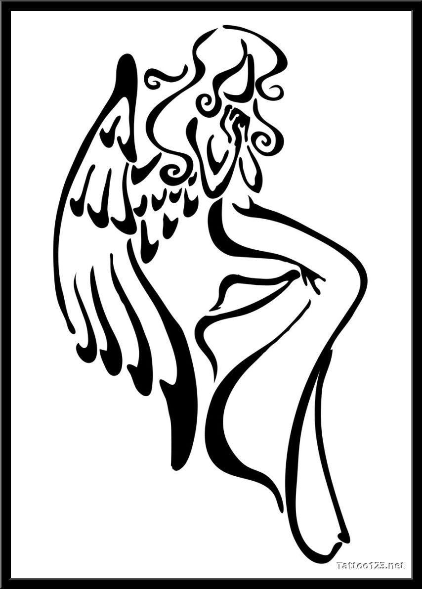 854x1191 Simple Angel Drawing