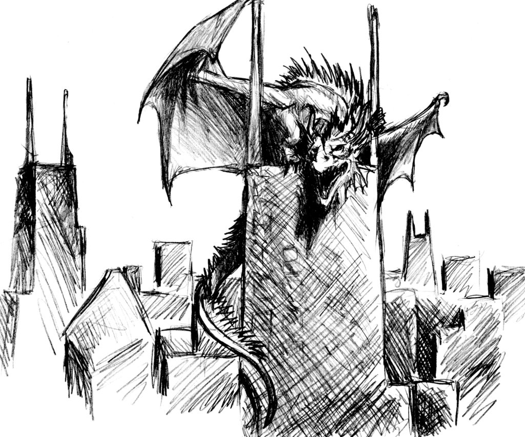 1024x853 Sears Tower Dragon By Aircool66