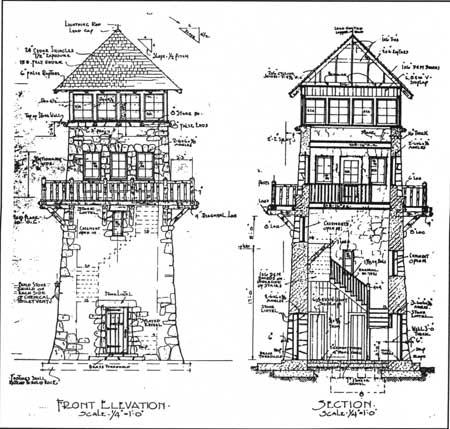 450x429 Stone Tower Wayah Bald Observation Tower, North Carolina (1938