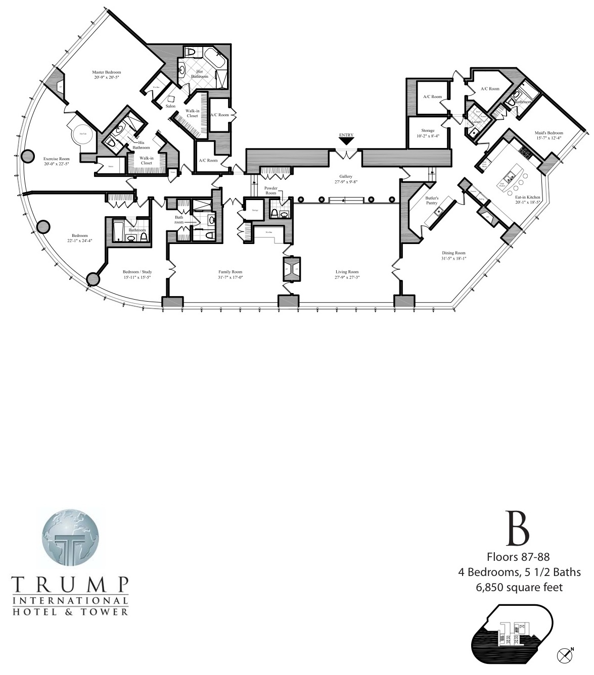 1175x1336 Tallest Towers Trump Tower Chicago, Realty Kingdom Of Donald